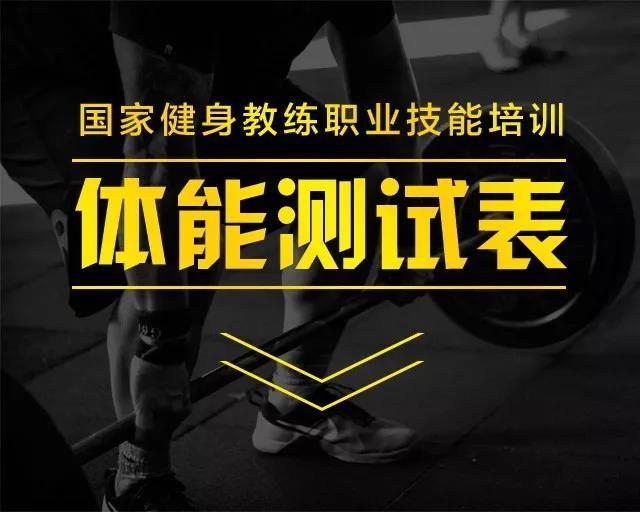 健身教练培训体能测试题